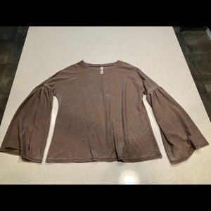 Xhilaration Thermal Bell Sleeve Top